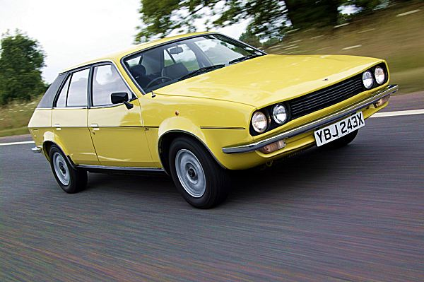 This immaculate Princess demonstrates perfectly the fact that the wedge profile made the transition from styling exercise to production reality without any major changes - contrast that with the sad story of how the Allegro was corrupted by the production engineers. This late Princess sports a strident yellow colour that suits the car perfectly. (Picture supplied by Kevin Davis, courtesy of Retro Cars magazine.)