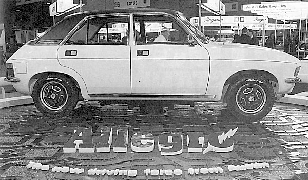 Allegro at the 1973 Earls Court Motor Show... (Picture: Kevin Davis)
