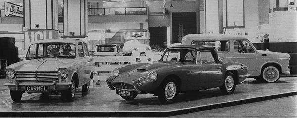 The Carmel and Sabra make their debut at the 1961 New York Motor Show, alongside Autocars' first model, the Sussita.