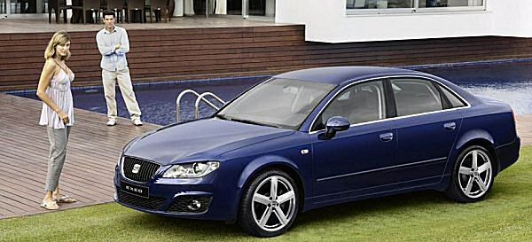 Warm-over the last-generation Audi A4, and you get the SEAT Exeo....