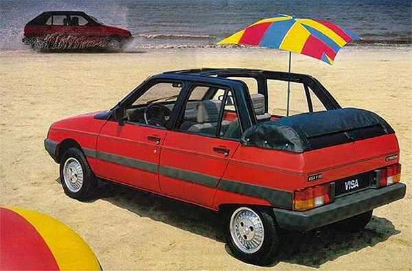 Citroen Visa Cabriolet was the inspiration behind the Maestro Cabriolet.