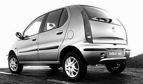 Rear view of the TATA Indica shows a neatly styled car, with obvious European overtones. No doubt, this was down to the fact that it was styled by the Italian styling house, IDEA, who had also been responsible for the Fiat Tipo.