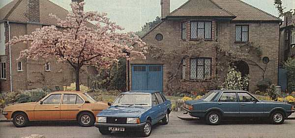"""...and here are the two cars that the Talbot Solara had to beat: the Ford Cortina and Vauxhall Cavalier. The Solara looked more contemporary, and offered advantages over its established rivals, but its tappety engine and hit-and-miss marketing campaign meant that with the Solara, Talbot still did not have the armoury to break the stranglehold of the established """"big two"""". (Photograph: WHAT CAR? magazine)"""