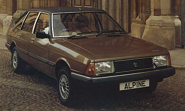 "A 1981 Talbot Alpine SX resplendent with its metallic paint and alloy wheels. It also sported a natty trip computer (""Ordinateur de bord"" as its evocatively called in French) and cruise control."