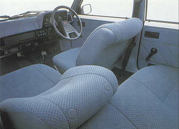 Horizon interiors always had something of a Gallic feel to them, and this later Talbot demonstrates that perfectly, with its single spoke steering wheel and soft seats.