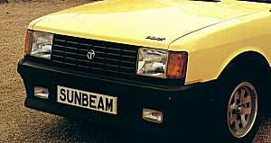 The 1981 Sunbeams looked a lot better for their flush headlamps.