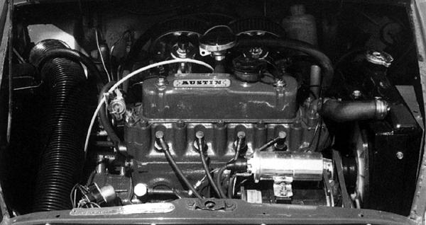 The 998cc Mini-Cooper engine, in situ.