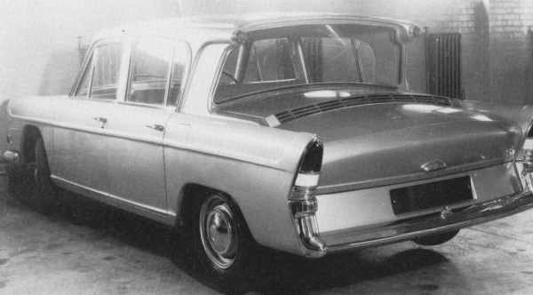 "In an exercise to challenge Issigonis' creative thinking, BMC management commissioned ERA to come up with a forward-thinking family car for the 1960s. This rear engined prototype was the result... dropped like a hot coal by BMC (and stored in their tunnel at Longbridge), the designers responsible for this car joined Rootes and set about designing a replacement for the Audax. Swallow was the result. (Picture: ""BL: The truth about the cars"", by Jeff Daniels)"