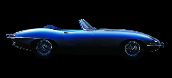 Jaguar E-type: An unmistakable profile...