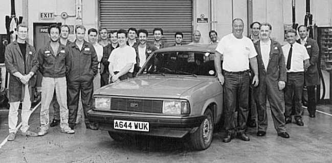 """This innocuous picture is of the original Chinese Ital simulator, as produced in the workshops at Longbridge... The car was fitted with a 2-litre O-Series engine and LT77 gearbox, and was apparently rather """"interesting"""" to drive."""