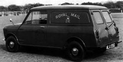 Minivan in Royal Mail livery