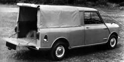 Mini pick-up with canvas tilt