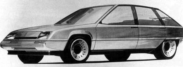 Harris Mann sketch for the proposed mid-sized hatchback. What emerged was rather more conservative...