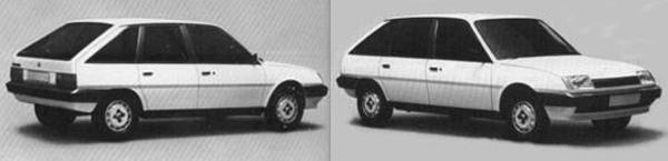 Harris Mann had proposed this hatchback design for the LC10; very similar to the Bache-designed Maestro in its proportioning, but with distinct GM Europe design cues (the 1981 J-Car Cavalier in particular). It is debatable that the car would have sold any better than the Maestro, but it did look a more 'conventional' design. It also paid none of the homage to its predecessors, the Maxi and Allegro that Bache's version drew inspiration from.