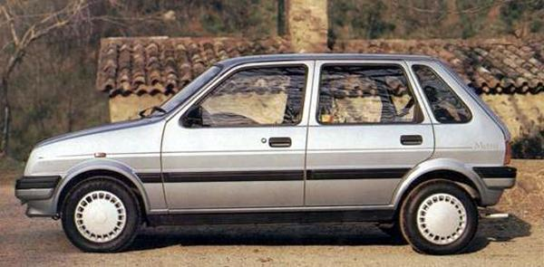 Late 5-door model shows how detailing on the car's styling was tidied up. The picture also the effectiveness of the addition of two extra rear doors in the 1984 facelift – the look remained fairly well balanced, it certainly looked no worse than the 3-door model, not a bad achievement when you think that the 5-door model was not part of the original design programme.