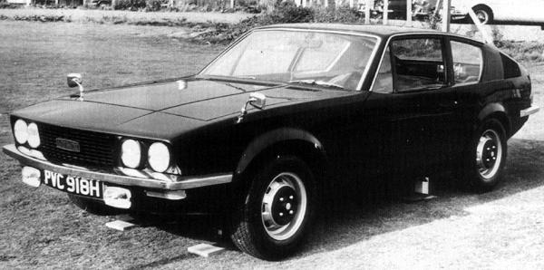 "The grille/headlamp arrangement of this Michelotti Lynx bears a remarkable resemblance to the that of the P10 proposal from 1970. As with much of the design house's work of the era, the styling is very attractive – notable in this case, for its long, elegant bonnet and kamm-tail. (Picture: ""MG: The Untold Story"", by David Knowles)."