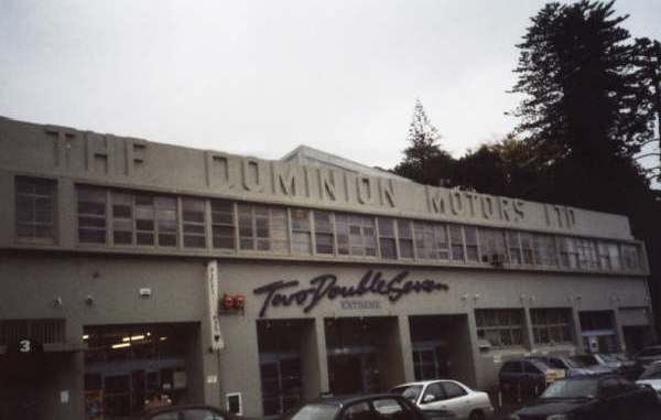 The Dominion Motors building on Mortimer Pass, Newmarket, Auckland 1 now serves as an annexe to a popular shopping centre. The name Two Double Seven being the street number of the main building. Picture supplied by Ian Walker.