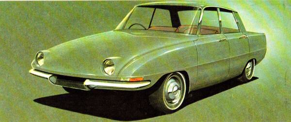 The P6, as sketched in 1957...