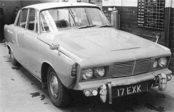 17EXK was the first of five P7A six cylinder prototypes. Styling was hastily improvised.
