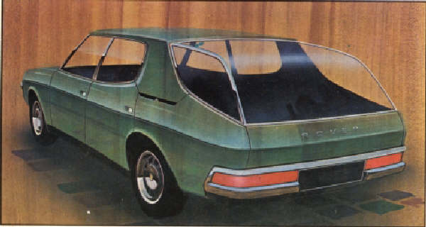 Glassbacked sketch: An interesting idea, although one suspects that the cost and engineering implications of this would be too much for Rover. Ahead of its time, nonetheless. (Picture: MOTOR magazine), supplied by Jerry Ford.