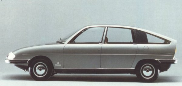 """Follow up to the Pininfarina 1800 proposal of 1967, this fully engineered prototype built on Austin 1100 running gear was commissioned by BLMC, who had been impressed by the original. This car represents an even bigger missed opportunity than the larger car and its relevance is thrown into great relief by the absolute ugliness of the 1100's replacement, the Allegro - and it comes as a disappointment to report that not only was this car passed over by British Leyland, but they reported to Pininfarina that they were """"disappointed"""" with the design for being """"too close"""" to the BMC-Pininfarina 1800!"""