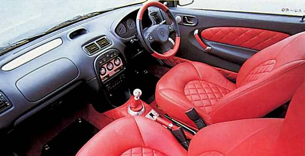 Understated certainly wasn't the word to describe the unique BRM interior.