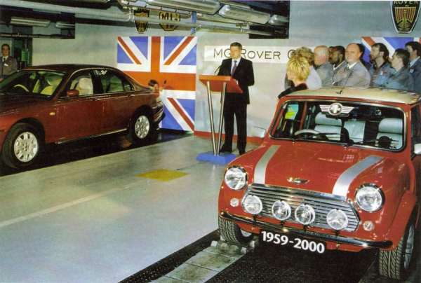 The end of the Mini at Longbridge was used to usher in the beginning of the Rover 75... (picture: Ian Nicholls)