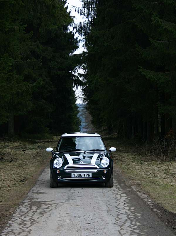 MINI Cooper was right at home in the Eifel Mountains...