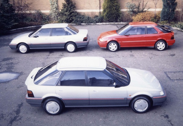 Full-size clay models of the first three R8 derivatives. Note the alternative spoiler treatment on the  three-door sports model ...Full-size clay models of the first three R8 derivatives. Note the alternative spoiler treatment on the  three-door sports model ...