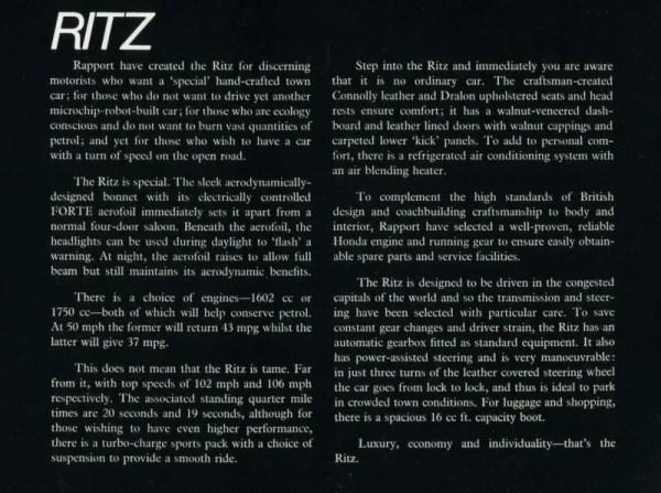 Rapport Ritz