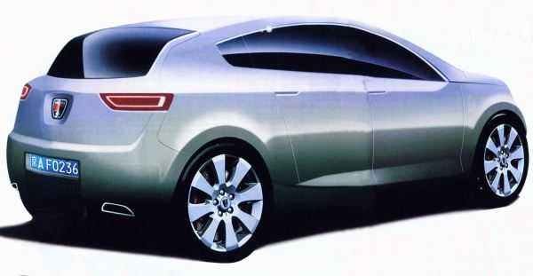 Rear view is interesting and almost Coupe like thanks to its sloping rear glass...