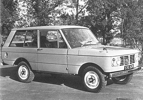 Accident in design: the 100-inch Station Wagon prototype was built up under the close scrutiny of Spen King and Gordon Bashford, and the body style in this photograph was intended only as a temporary measure in order to clothe the running gear, whilst David Bache devised the definitve design. However, the management of the company liked this proposal so much, they asked for it to remain, with only the lightest of changes.