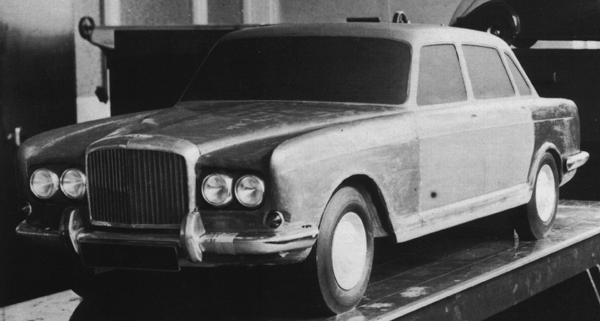 The Bentley Bengal clay model: The doors from the ADO61 are clearly visible. The car would have used the suspension and 6-cylinder engine from the aborted Java proposal, but in fact did not get beyond the quarter-scale model seen here. However, that suspension system did eventually see the light of day – in the Austin 3-Litre.