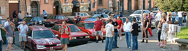 Viterbo's town centre was invaded by the Brits - and it made for a great sight.