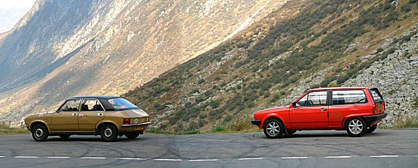 Back in the Alps: after a sleepless night in Northern Italy, we motored towards home. In the thrash through the mountains, the Allegro performed very well in Alexander's hands, proving that if driven correctly, an Allegro could be made to hustle through corners very effectively indeed.