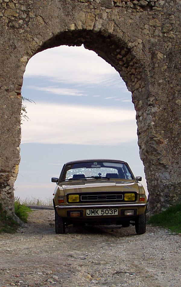 Molly poses beneath a Roman viaduct. It was here that we discovered just how special the roads can be in Italy.