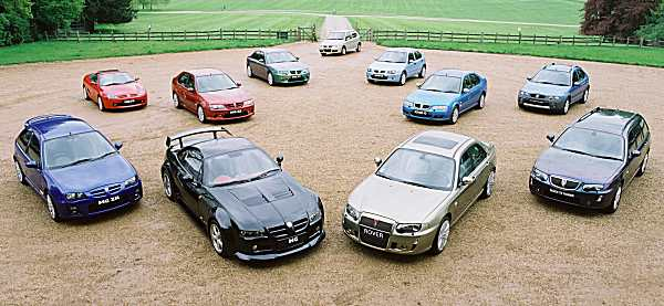 The MG Rover range still supported by XPart