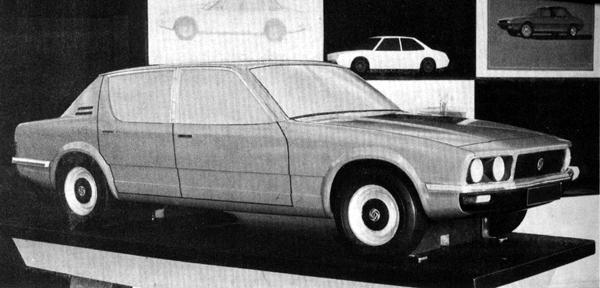Michelotti's proposal for the Rover P10. This project eventually led to creation of the Rover SD1.