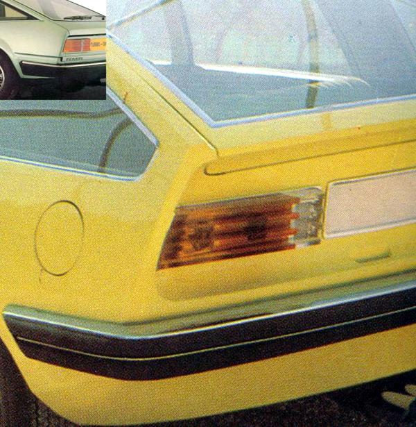 "The rear lights are also frighteningly similar - The Pininfarina design even featured ""ribbed"" lenses..."