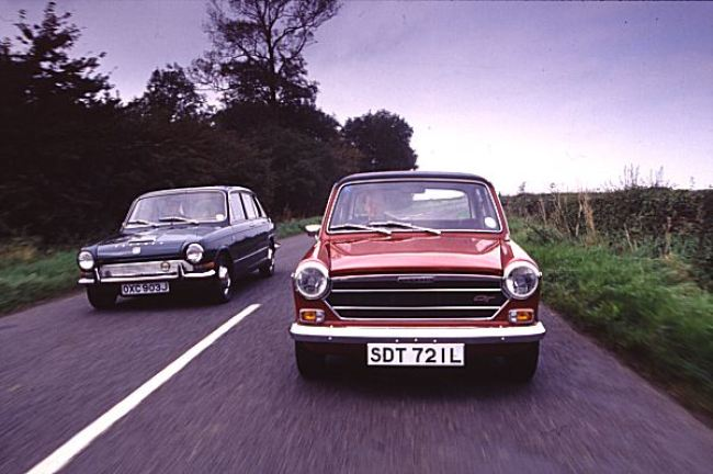 The Austin 1300 GT takes on the Triumph 1300 TC – both rivals, both built by British Leyland at the turn of the 1970s