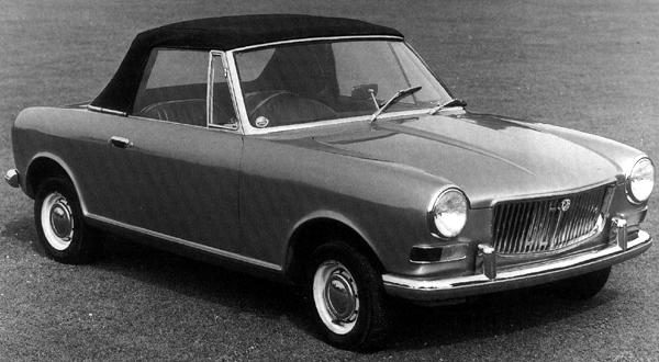 The Longbridge ADO34 (above), roof-down and roof-up. This prototype was built (and probably designed) by Pininfarina, and now resides at the Heritage Collection at Gaydon.