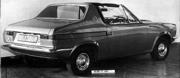 "The finished prototype, as photographed for the archives at Longbridge. The car's ""GB"" sticker bears testament to the fact that it had been driven back from Turin to Longbridge. Paul Hughes is said to have been ""disappointed"" with the way his original design had been interpreted (and, indeed, altered) by Michelotti. (Picture: ""MG: The Untold Story"", by David Knowles)."