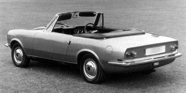 This pretty Pininfarina design, dating from 1964, was for a possible MGB replacement which would have used the Hydrolastic suspension system which had recently been introduced on the BMC 1100s. Pininfarina were to develop this style for their Alfa Romeo Duetto Spider, launched the following year; and when that car was restyled to become the 1750 Spider in 1969, its rear-end styling had a familiar ring about it...