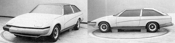 A slightly more sloping roofline was investigated for this Lynx proposal – the beginnings of a move away from the sports estate version – towards the final, definitive coupé.