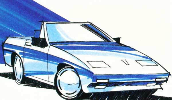 This sketch, as shown in the SS1 publicity material, is probably something of a post-rationalisation by Reliant of Michelotti's original proposals.