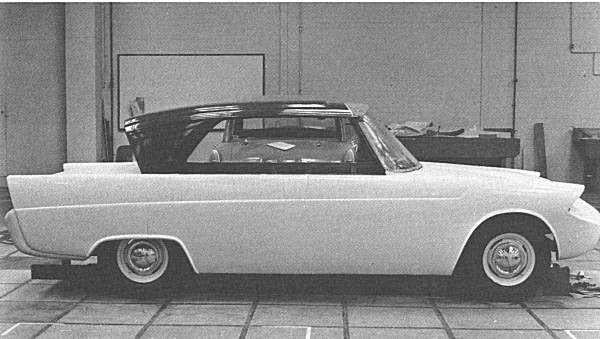 Zebu soon took shape under the guidance of Harry Webster - and as can be seen from this very early model, the reverse slope rear window was on the cards right from the beginning.