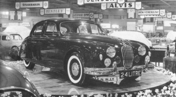 Jaguar Mk1 launches at Earls Court in 1955