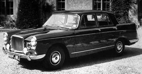 "Roland Fox recognised the brilliance of Lord's decision, but had barely three months to put it into practice. He decided that the new car's grille should be part-Bentley, part-Alvis in appearance, and Lord gave the new design the go-ahead. In October 1959, the car was launched as the ""Princess 3-litre"". However, in the minds of the public, the Princess name was still firmly associated with Austin, so in a move to overcome the fact that the new car was being referred to as the ""Austin Princess 3-litre"", BMC took the bold decision to brand the cars as the ""Vanden Plas Princess 3-litre"" from May 1960 onwards, and in due course the BMC coachbuilding subsidiary became known as ""Vanden Plas Princess Cars"". All future Vanden Plas Princess models would follow the style set by the 3-litre."