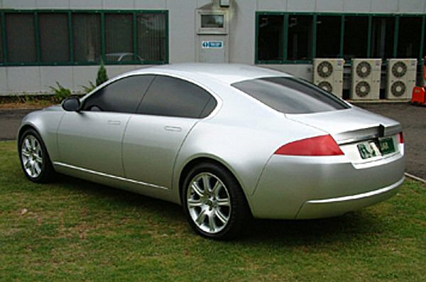 Rear view of same model reveals the chrome strip across the bootlid is a feature that was always intended to be there...