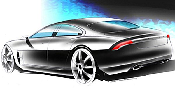 The feline haunches are a Jaguar trademark, and were always going to be a part of the XF. The Maserati-like rear lamp clusters were a step too far, though...